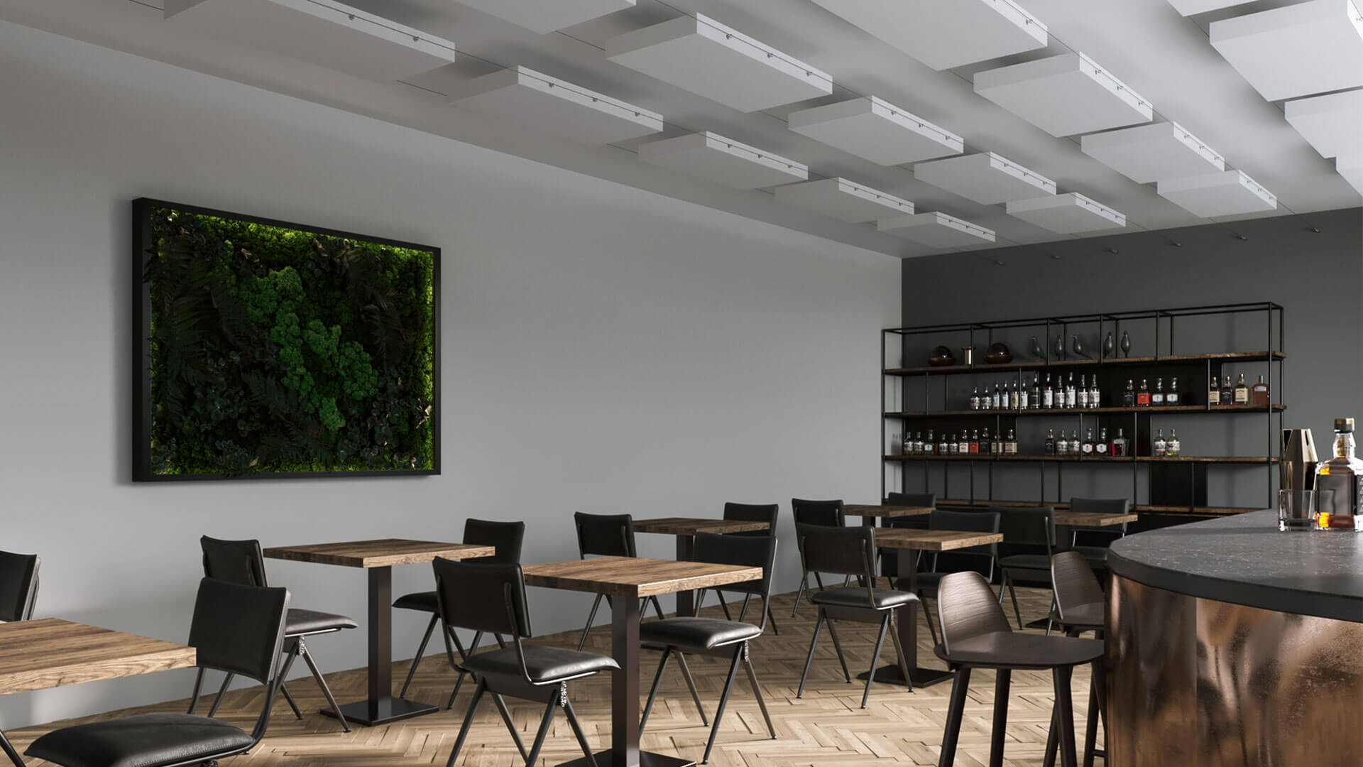 aixFOAM suspended ceilings for sound insulation