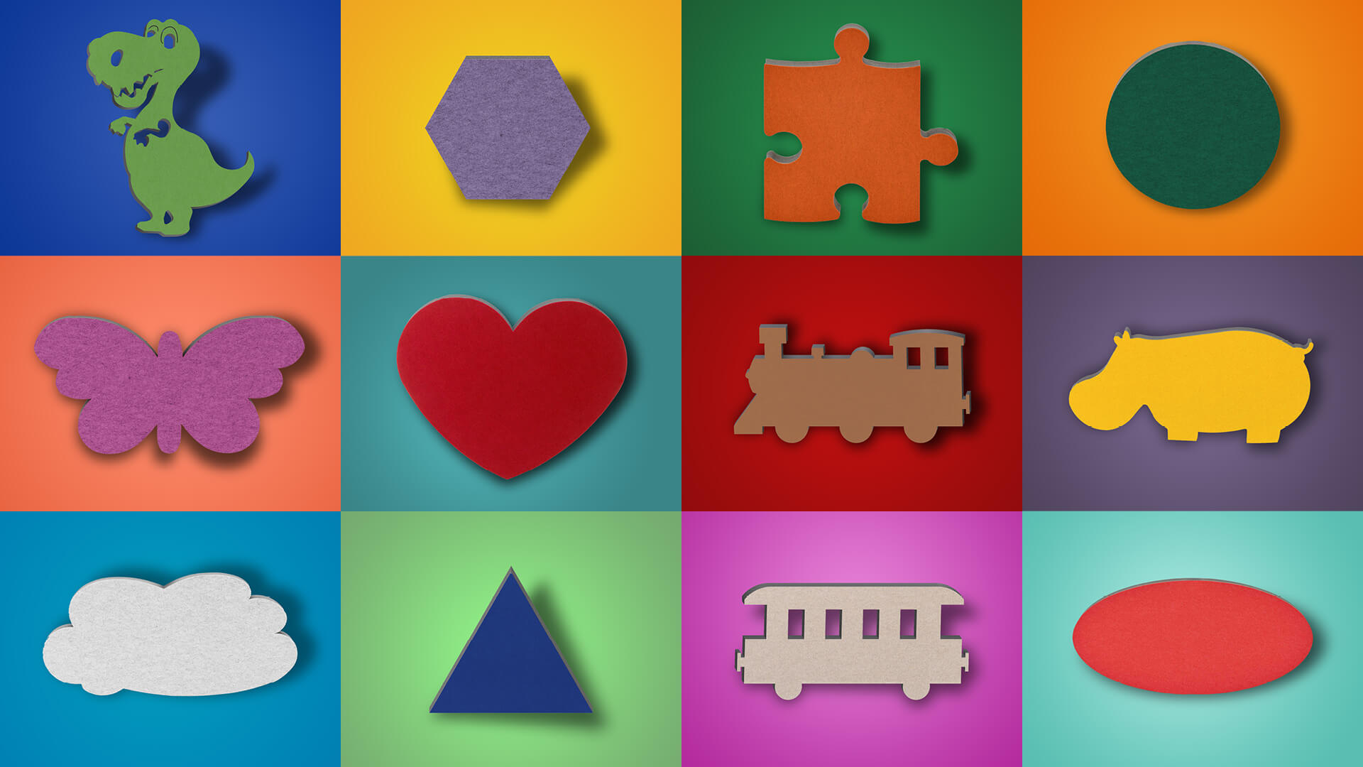 aixFOAM motif sound absorbers - sound absorbers in colored motifs