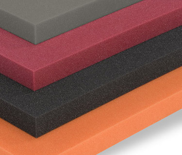 Stacked sound absorbers with smooth surface in various colours