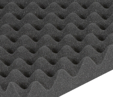 Nubbed foam for technical sound insulation