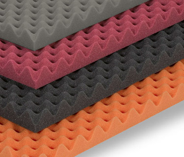 Nubbed foam in various colours