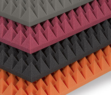 Pyramid foam in various colours