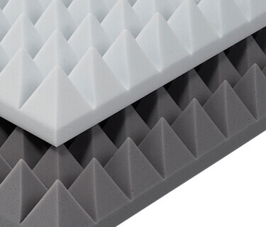 Pyramid foam with enhanced fire protection