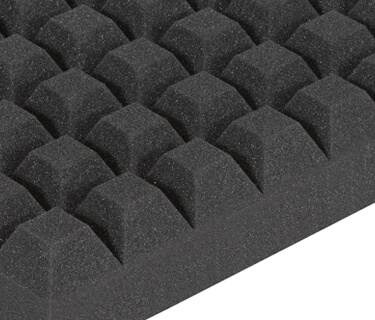 Sound absorber with trapezoid profile for technical sound insulation