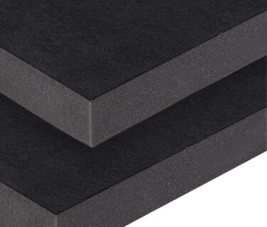Sound absorber with textile surface for technical sound insulation