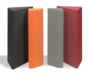 Bass traps and bass absorbers in various colours
