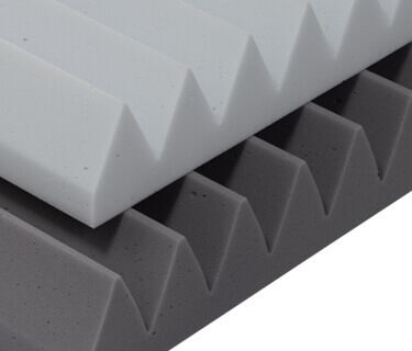 Sound absorbers with a triangular profile SH015 MH and fire protection class DIN 4102 B1