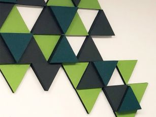 Sound absorber felt surface triangle
