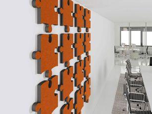 Design acoustics absorber jigsaw