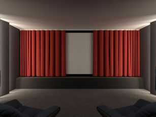 Electric home theatre curtain