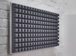 Premium sound absorber with trapezoidal profile