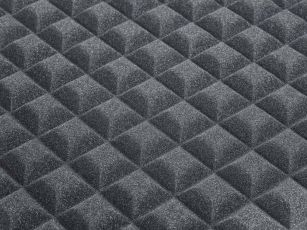 Technical acoustic absorber with trapezoid profile