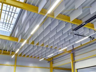 Hall sound insulation set