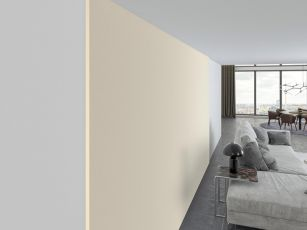 Acoustic fabric wall covering set