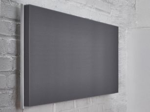 Rectangular acoustic panels with smooth surface