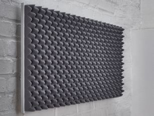 Premium sound absorber with egg crate profile