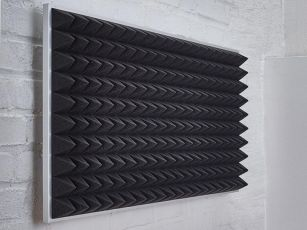 Acoustic foam with pyramid surface