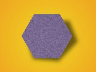 Sound absorber felt surface hexagon