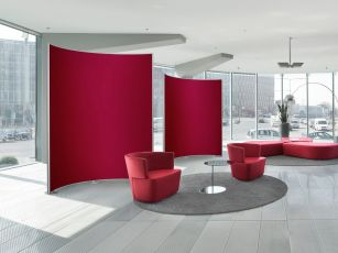 Acoustic partition wall/ room divider