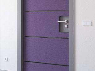 Self-adhesive door insulation set