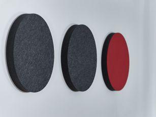 Felt-surface sound absorbers - Circle/ Ellipse