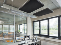 aixFOAM Design Soundproofing Panels SH006 with Acoustic Felt Ssurface and Aluminium Suspension Cassette