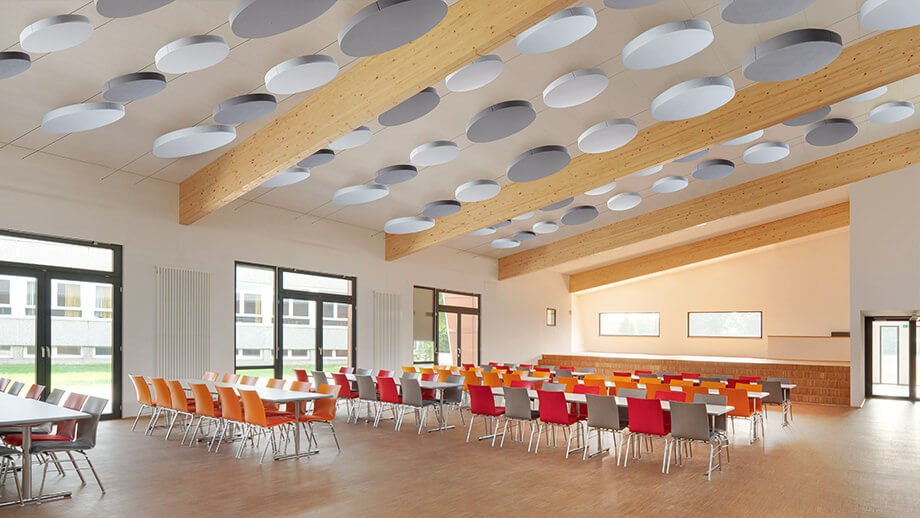 Sound absorbers in the restaurant improve the quality of stay for your guests