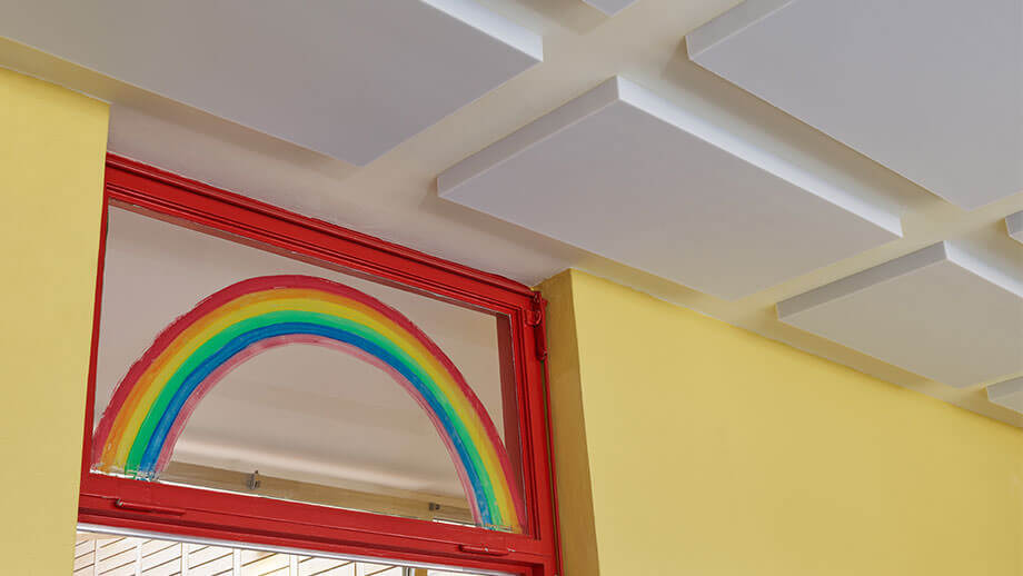 Sound insulation in kindergarten with sound absorbers SH001MH