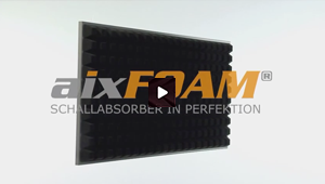 Sound absorber with tapered profile (SH005 MH)