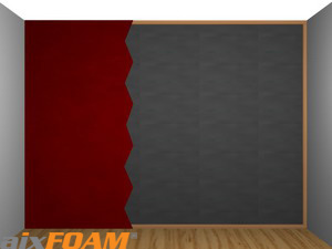 Sound Absorption Panel / plane (SH001) - hidden behind acoustic curtain