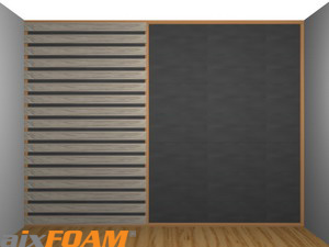 Sound Absorption Panel / plane (SH001) behind wooden panels